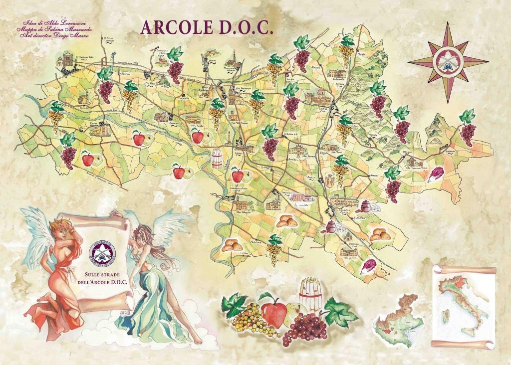 Cartina mappa Arcole